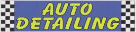 10ft AUTO DETAILING LARGE BANNER SIGN