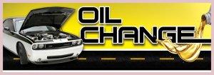 8ft OIL CHANGE BANNER SIGN