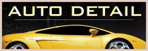 8ft AUTO DETAIL BANNER SIGN