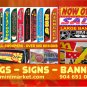 10ft NEW & USED TIRES BANNER SIGN
