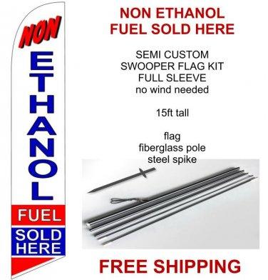 Non ethanol fuel sold here flag kit full sleeve swooper flag banner 15ft tall