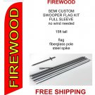 Firewood flag kit full sleeve swooper flag banner 15ft tall red yellow black