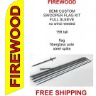 Firewood flag kit full sleeve swooper flag banner 15ft tall yellow red black