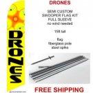 DRONES SALE flag kit full sleeve swooper flag banner 15ft tall