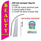 BEAUTY SALON FEATHER FLAG BANNER -