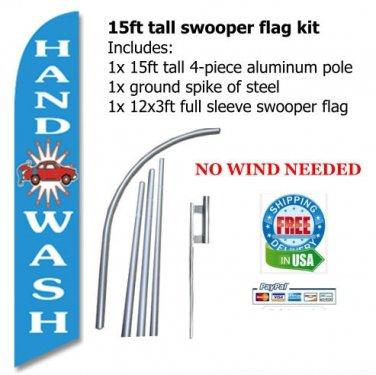HAND WASH blue SWOOPER FLAG KIT  -