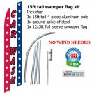 CAR WASH SWOOPER FLAG w stars  -