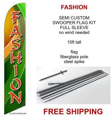 FASHION sale flag kit full sleeve swooper flag banner 15ft tall