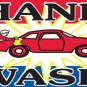 HAND WASH Sign Flag 3x5ft advertising  banner sign blue red