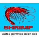 SHRIMP Sign Flag 3x5ft advertising  banner sign