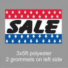 SALE  Sign Flag 3x5ft advertising  banner sign stars blue red