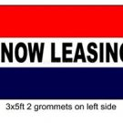 NOW LEASING Sign Flag 3x5ft advertising  banner sign