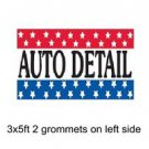 AUTO DETAIL Sign Flag 3x5ft advertising  banner sign