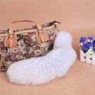 URSFUR Large Fox Tail Key Chain Fur Bag Tassel Hook 17 inches