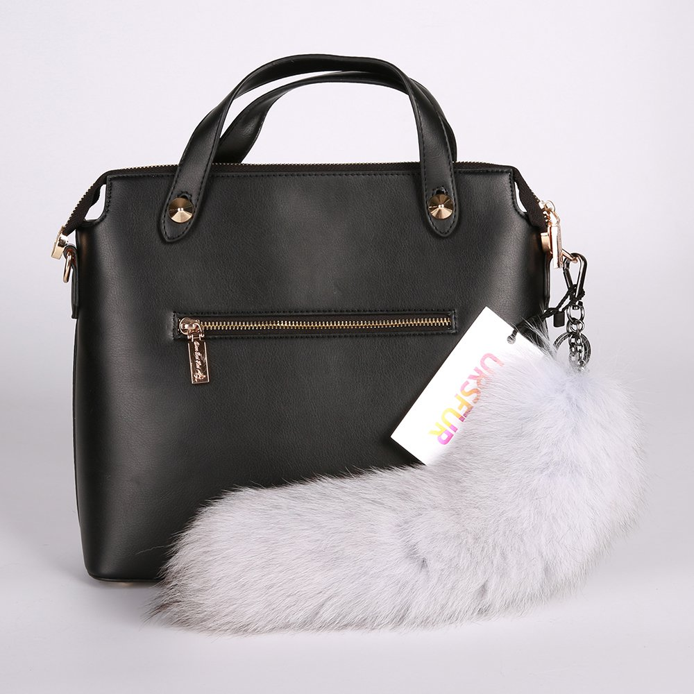 URSFUR Tail Fur Bag Charm Keychain Cosplay Toy Key Ring Pendant
