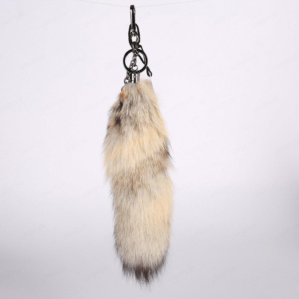 URSFUR Tail Fur Keychain Hook Purse Bag Charm Pendant Cosplay Toy