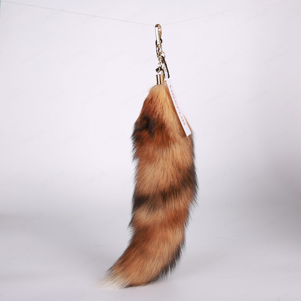 URSFUR Tail Fur Key Chain Tassel Bag Charm Pendant Keychain
