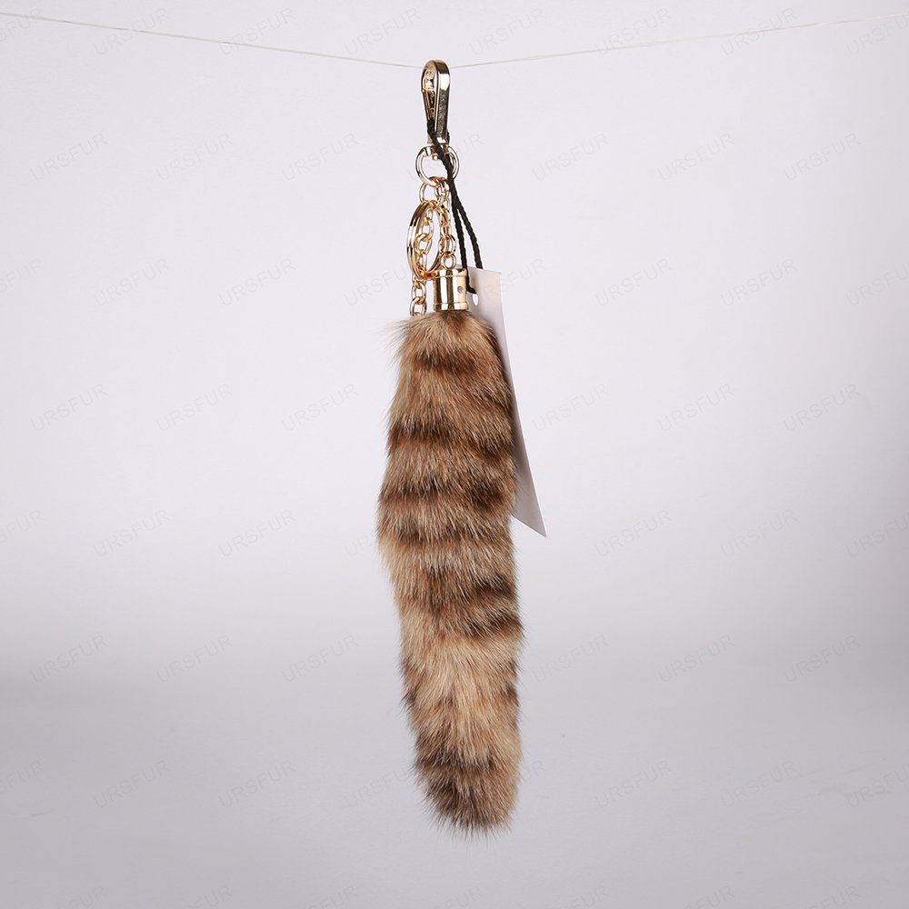 URSFUR Fur Tail Car Bag Hanging Tassel Keychain Purse Charm Pendant Gift