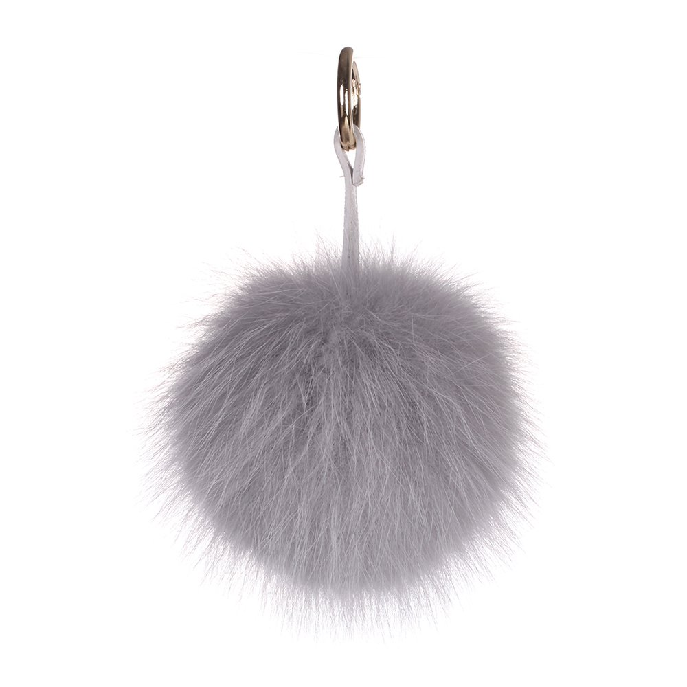 URSFUR Pom Keychain Phone Bag Charm Pendant Fur Ball Key Chain Ring