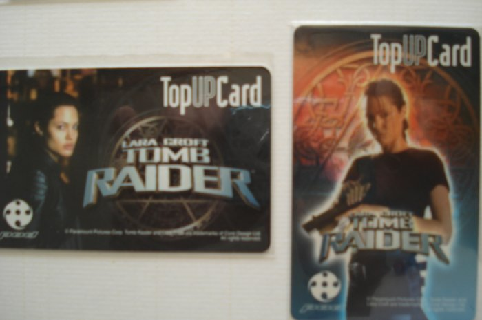 Tom Raider Movie Phonecard