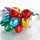 Jingle Bell Ring Cocktail Ring adjustable Christmas