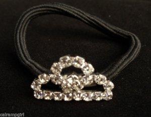 Clear Crystal Princess Crown Ponytail Holder