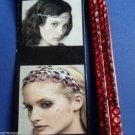 Soft Elastic Red headband rhinestones
