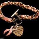 Pink Ribbon Charm Bracelet Breast Cancer awareness