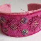 Pink Oriental Style Cuff Bracelet