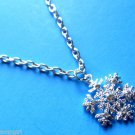 Snowflake Necklace clear crystals winter christmas