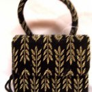Childs Black Evening bag purse Fern style