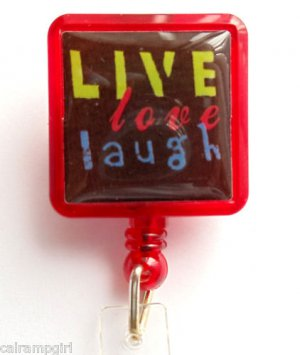 Live Love Laugh Retractable ID Holder