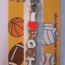 I love Football Zipper Pull