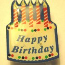 Happy Birthday Cake pin magnetic clip flashing lights