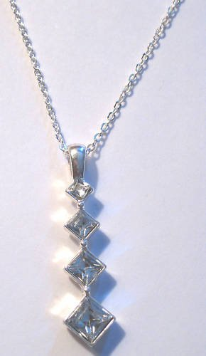 Passage Necklace sparkling faceted triangle stones