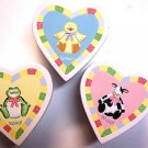 Baby trinket boxes animals heart shaped childs room