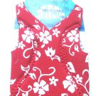 Dress to Chill red hibiscus flower bottle coozie