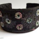Black Oriental Style Cuff Bracelet