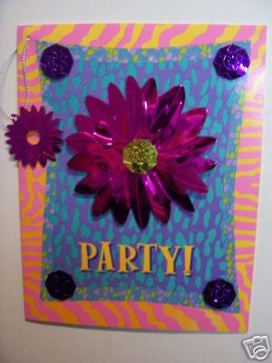 Box set foiled Flower Party Invitations Razzle Dazzles