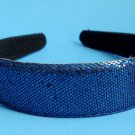 "Blue Sequins Glitter headband 1"" Wide"