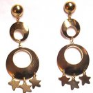 Dangling Chandelier Fashion Earrings Gold with stars