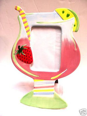 Strawberry Daquari Drink Picture Photo Frame Cocktails
