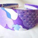 """Purple Satin Camouflage Headband 2"""""""