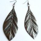 Fall Leaf Earrings Silver