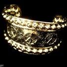 Gold Peace Sign Cuff Bracelet