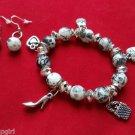 Shoe Purse Fashion Charm bracelet earrings Black