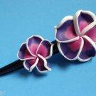 """Purple frangipani Plumeria Flower Claw Hair Clip 5"""""""