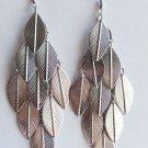 """4"""" long Silver Leaf Earrings"""