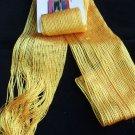 Yellow Silver Glitz Sparkle Scarf sash headwrap 3 n 1 White