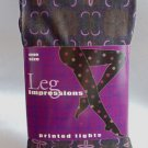 Leg Impressions Patterned Tights with Pink design